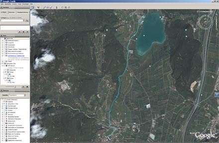 Google Earth Tramin Kalterer See