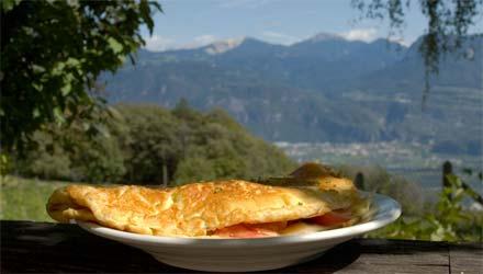Omelett mit speck und Käse