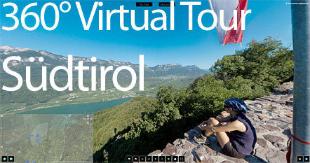 Virtual Tour durch Südtirol. Südtirol 360°