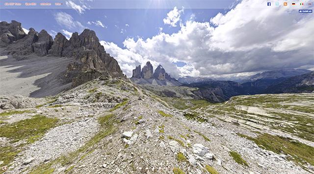 Südtirol 3D - 360 Grad Kugelpanoramen Südtirols Bergwelt