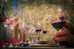 Vertikale Weinverkostung