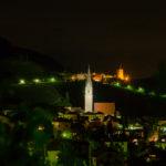 Pfarrkirche Tramin bei Nacht