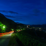 Tramin an der Weinstraße bei Nacht