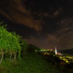 In den Weinbergen Tramin bei Nacht